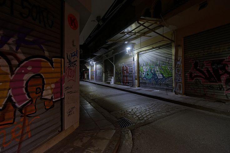 Νύχτα στην οδό Ασκητού. Καπάνι. (Απρίλιος 2018)