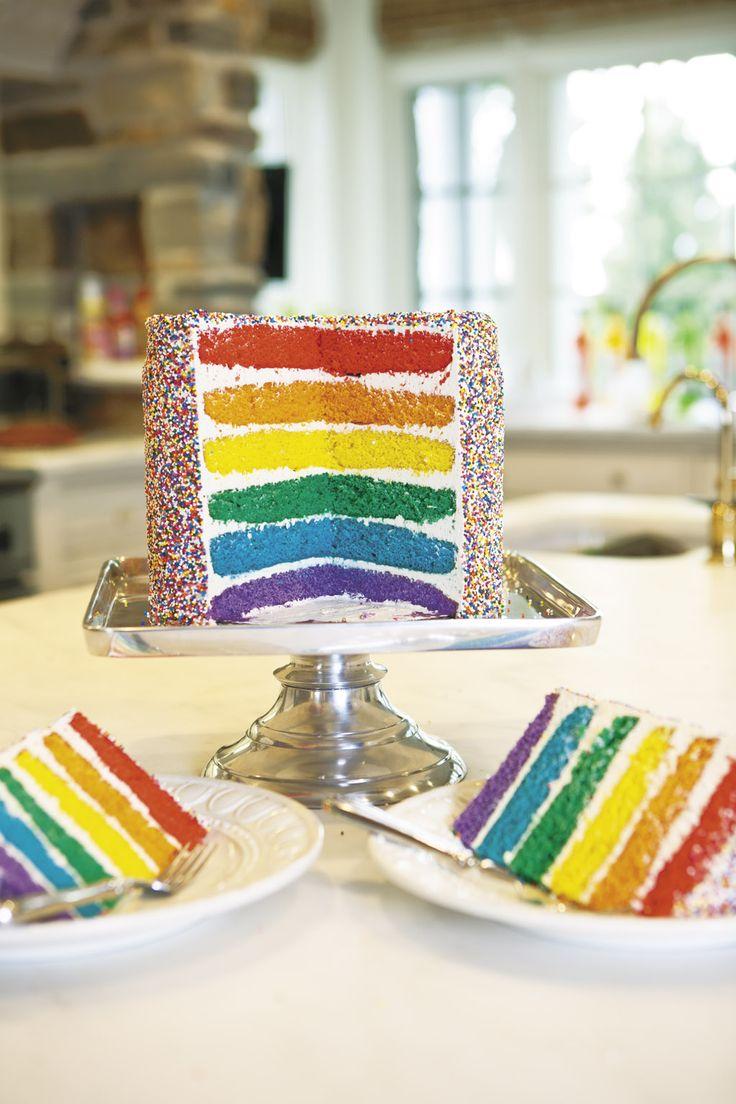 Fabulous Rainbow Sprinkles Cake from Ross Sveback! Love it! @Ross Sveback