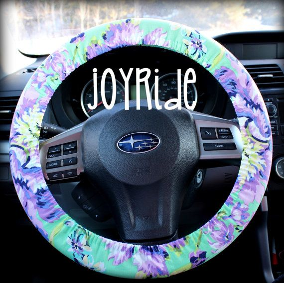Steering Wheel Cover Plum Posy Orchid w/ Matching by JoyRideCovers