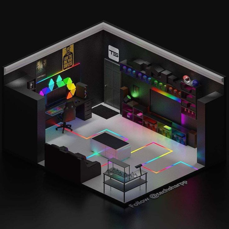 Build a room addition in any number of ways to your existing structure. | 1000 | Gaming room setup, Game room design, Small game rooms