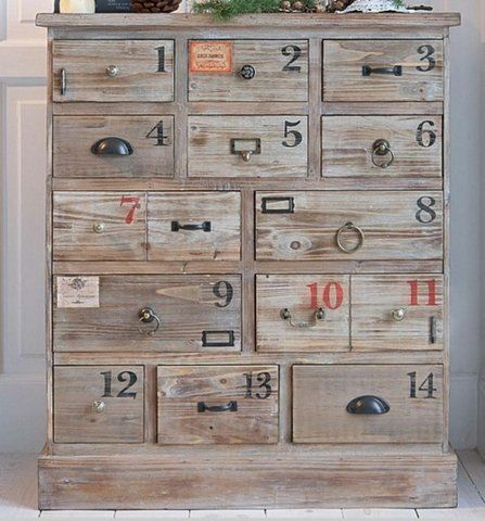 Love the numbering and the knobs. I always forget what I put in what drawer.