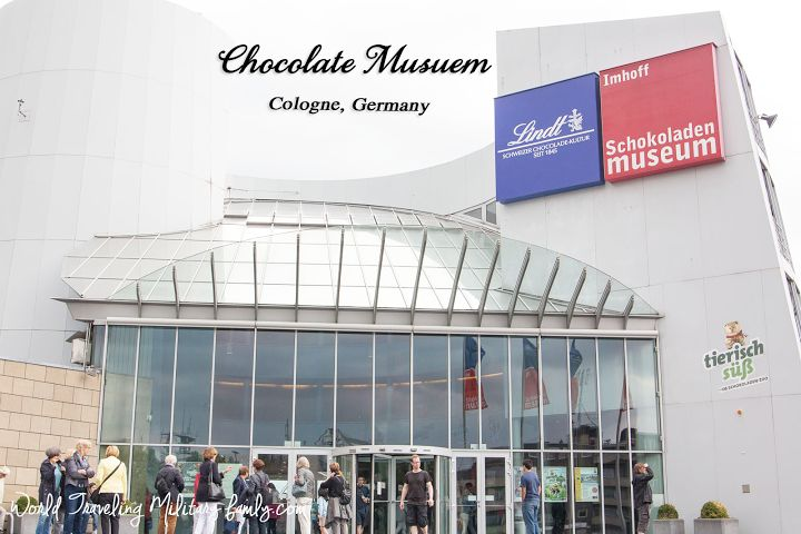 Chocolate Museum – Cologne, Germany. It's about 1 hour 38 mins from Spangdahlem, and 2 hours 30 mins from Ramstein.