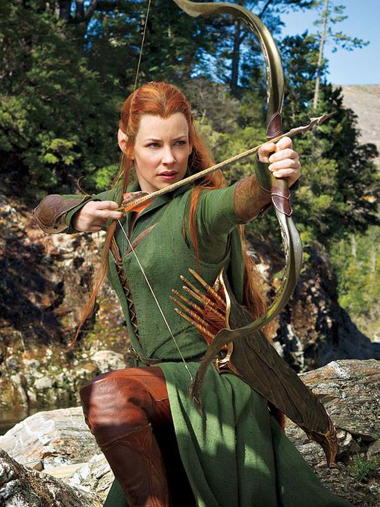 ... Lilly as Tauriel in 'The Hobbit: The Desolation of Smaug