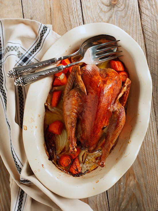 This is a long, slow recipe for roast pheasant, cooked in butter and cream, with a good splash of bourbon. A perfect dish for learning how to cook pheasant.