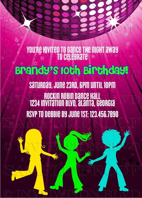 dance party invitation hip hop dance party by