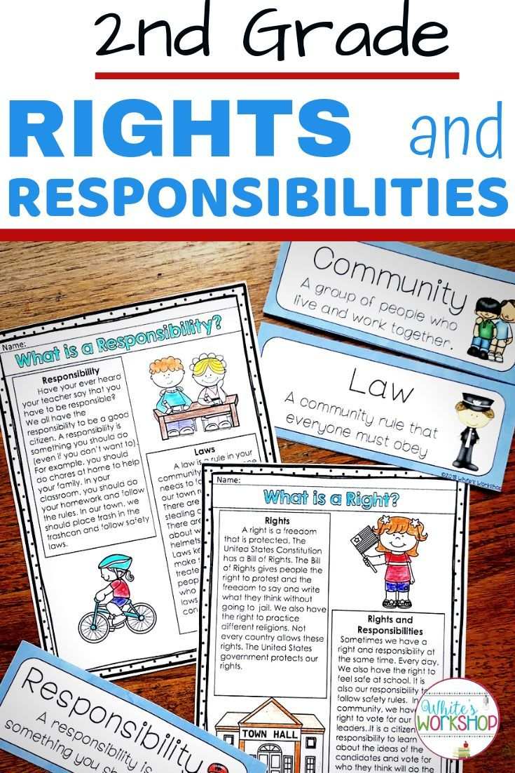 hight resolution of 2nd graders will learn about their rights and responsibilities at home