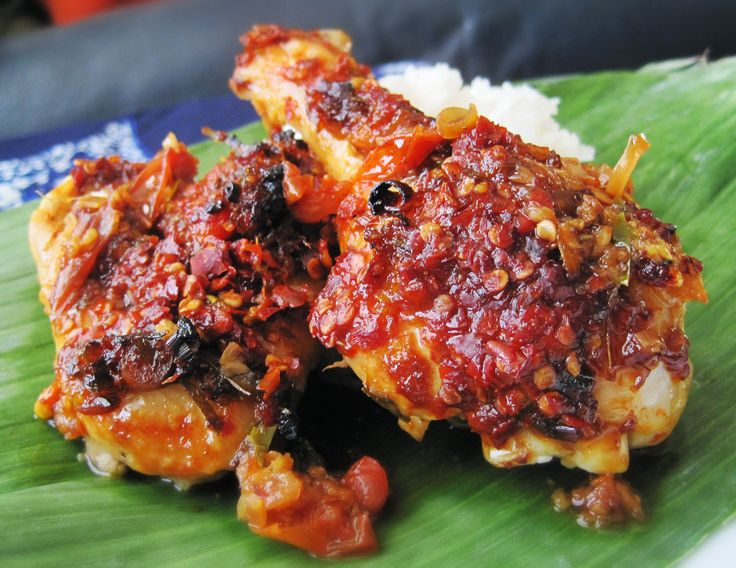 Indonesian Food. Ayam Bumbu Bali. Balinese Spicy Roasted Chicken