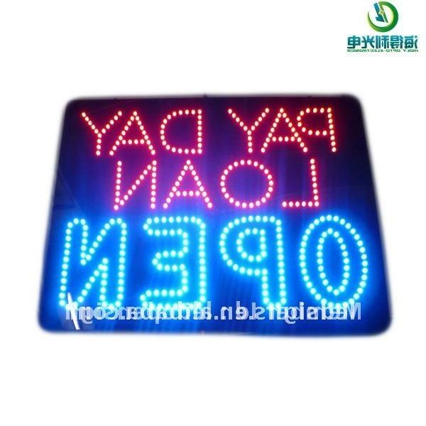 45.00$  Buy here - http://alijsl.worldwells.pw/go.php?t=509448852 - Custom design for payday load open sign /LED OPEN SIGN /LED  Signage 45.00$