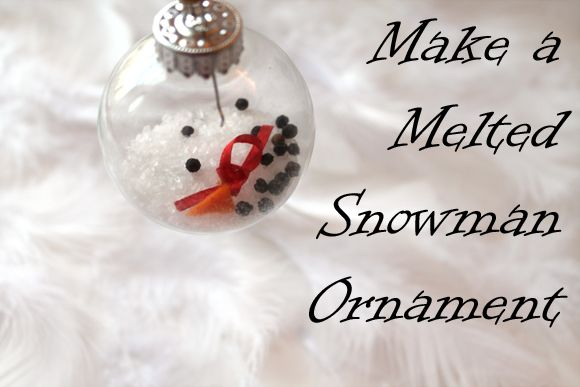 Make a Melted Snowman Christmas Ornament ~ Creative Green Living