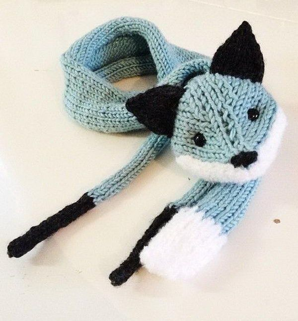 Knitted Fox. Cool Knitting Project Ideas http://hative.com/cool-knitting-project-ideas-tutorials/