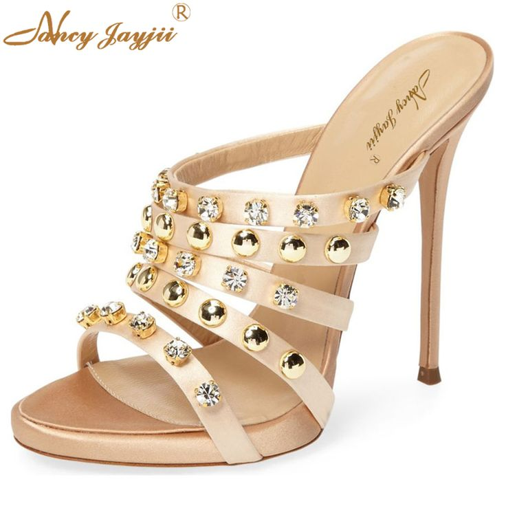 >> Click to Buy << Strange Rhinestone Summer Women 14cm Sexy High Heel Pearl Sandals Casual&Party Shoes Woman zapatillas con taco mujer Nancyjayjii #Affiliate