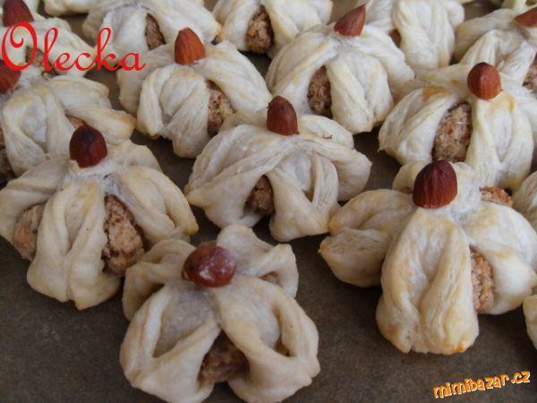 Jasminky z listového těsta