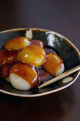 レンジで作る 「 みたらしだんご 」 - 【E・レシピ】料理のプロが作る簡単レシピ