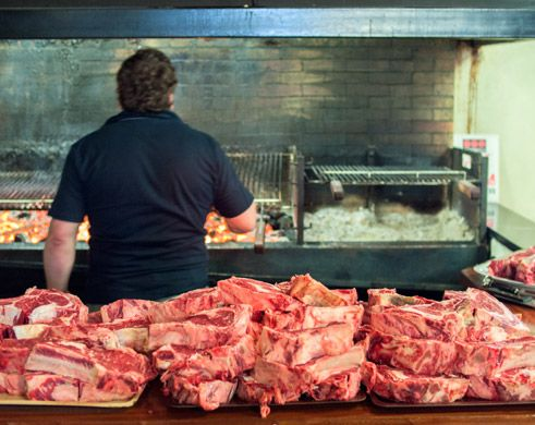Steaks (txuletones) at a Sagardotegi (Cider House)