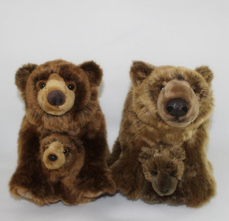 >> Click to Buy <<  Large Toy Simulation Animal Brown Bear Doll  Plush Toys  Children'S Birthday Gift  Mother And Child Bear  Good Quality #Affiliate