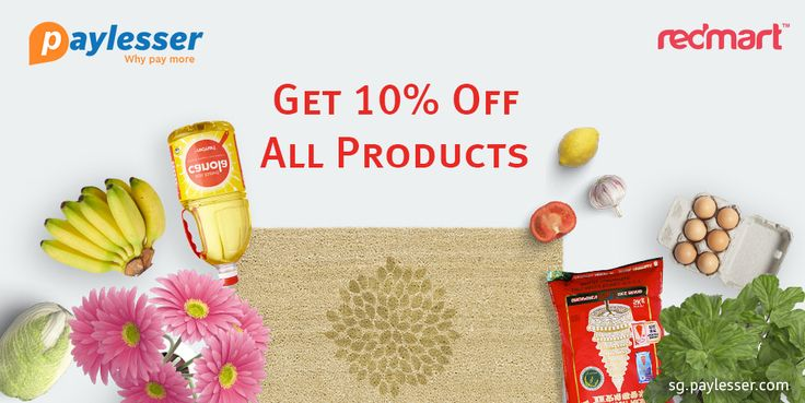 Use this coupon and get 10% discount on all products of first order with minimum spend of $30 AT #REDMART. get your code here..>