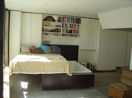Love This, Nice For A Tiny Appartment! Bed Slides Away To Reveal Space  Saving Spa Bath.