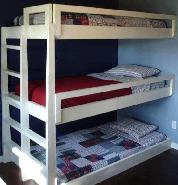 Triple Bunk Bed Plans Build Furniture Reference Pictures