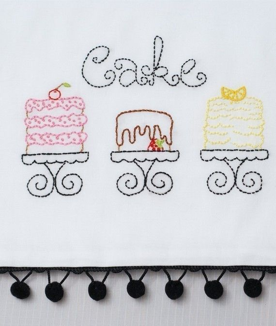 Cake Embroidery Pattern Packet by KimberlyOuimet on Etsy