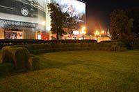 Оформление рулонным газоном на Пушкинской площади