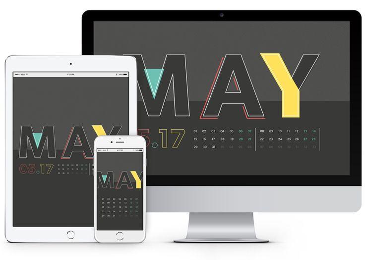 May 2017 Desktop Calendar Wallpaper   Paper Leaf