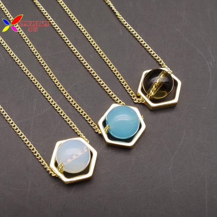 2015 рождественский подарок мода золотая цепь открыть гео белый синий коричневый стеклянный шар короткий воротник ожерелье кольер де роковойкупить в магазине Jewelries4U **Min. order is $10**наAliExpress