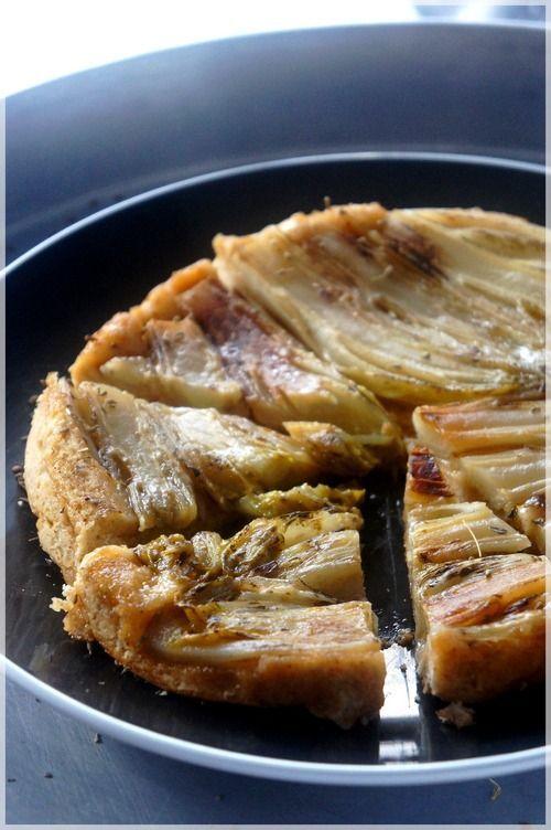 TARTE TATIN aux ENDIVES (pâte brisée au pain d'épices)