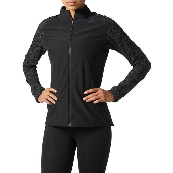 Adidas Supernova Storm Running Jacket (£70) ❤ liked on Polyvore featuring activewear, activewear jackets, adidas activewear, adidas and adidas sportswear