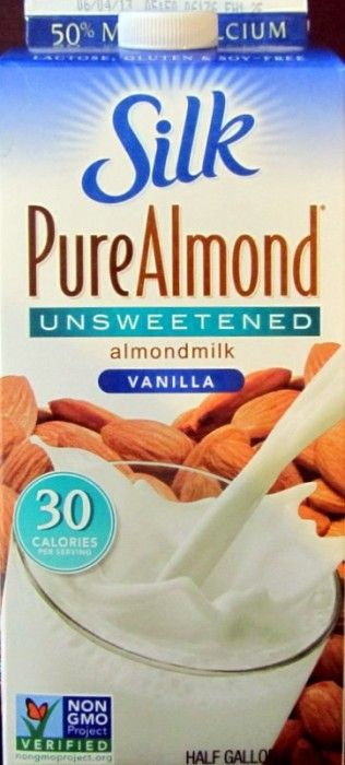 Silk Almond Milk (Vanilla Unsweetened) 50% more calcium than dairy milk - great for smoothies