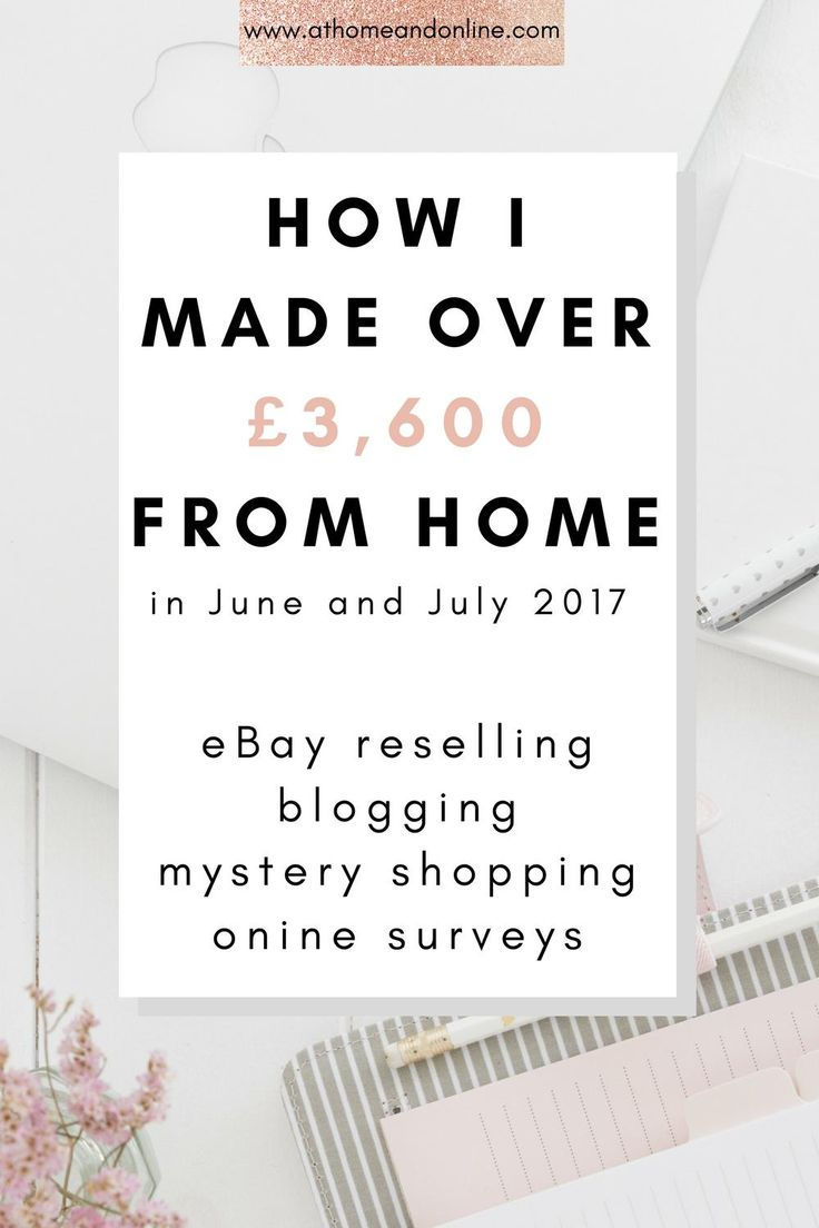 Are you wondering how to make money online? I left my corporate job in February 2017 and now work for myself from home, making money online. This is my online income report. Find out how much money I made eBay reselling, blogging, mystery shopping and doing online surveys.