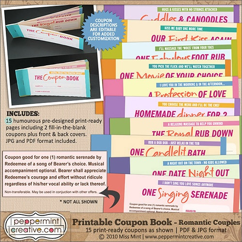 Printable coupons for relationships
