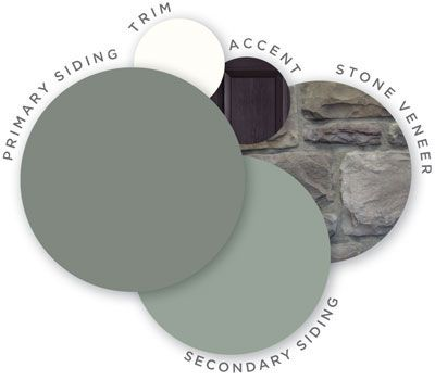 This color combination is so awesome i had to tag it for Vinyl siding color schemes