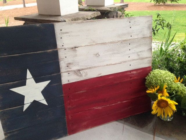 Texas Flag rustic wooden sign made from reclaimed by 13AceAvenue