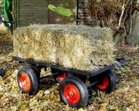 Hand pull trolley with bale. Available in 3 sizes. For more info: http://www.fresh-group.com/trailers-trolleys-and-carts.html
