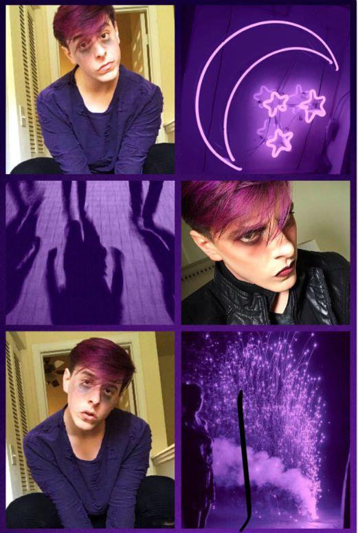 Virgil purple moodboard | Thomas Sanders (and Sides) plus