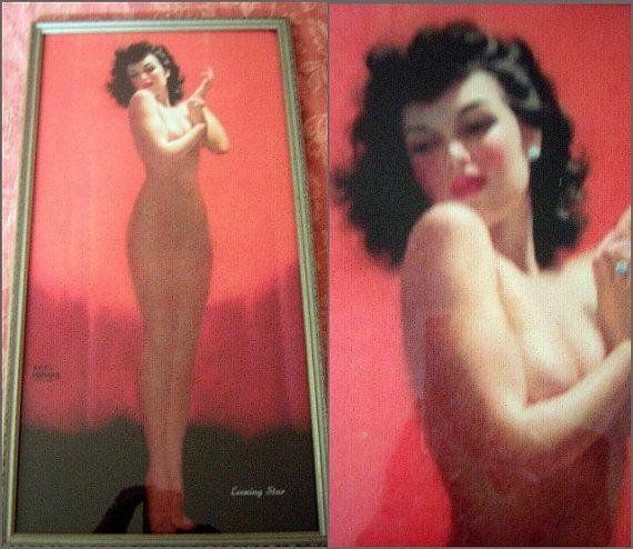 Earl Moran Nude Illusion Framed Print Vintage by DecadencePast