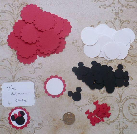 20 piezas de Minnie Mouse cabeza oído rojo por sandylynnbscrapping Más