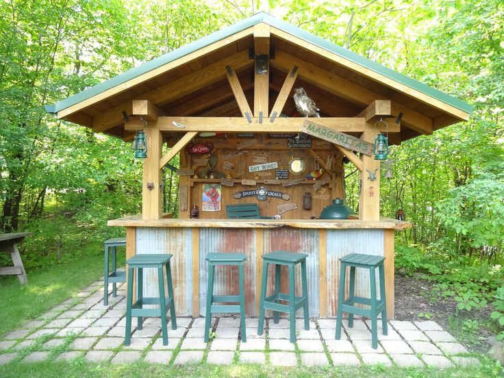 Rustic Outdoor Bar Outdoor Entertaining Pinterest