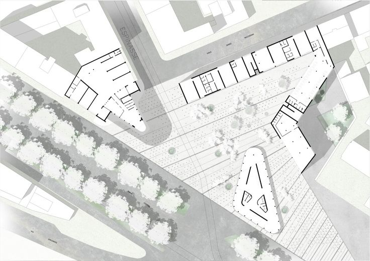 """New primary element"" Masterplan_Social Housing in Piazzale Accursio, Milan. NamJun Kim_Politecnico di Milano"