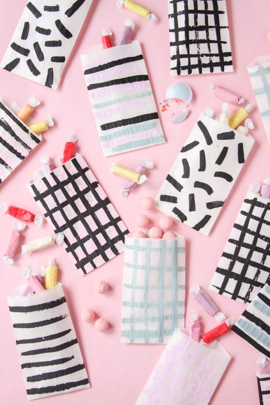 Pattern on Pattern: DIY Painted Favor Bags for Every Occasion - Paper and Stitch