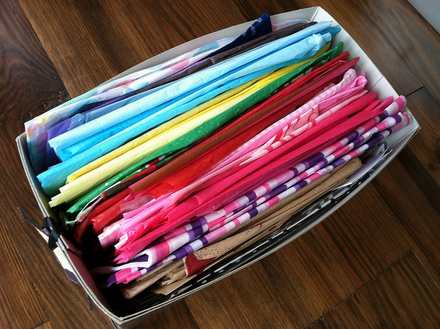 One good way to organize tissue paper & gift wrap.