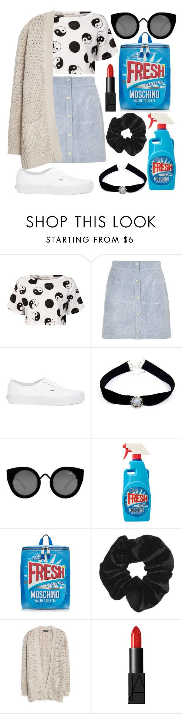 """""""Moschino Couture"""" by cat12103 ❤ liked on Polyvore featuring Être Cécile, River Island, Vans, Sirius, Quay, Moschino, Topshop, MANGO, NARS Cosmetics and women's clothing"""