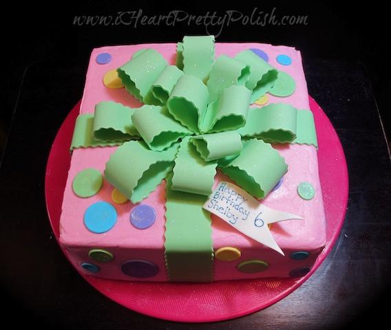 Gift Box Cake Kids Birthday Cake