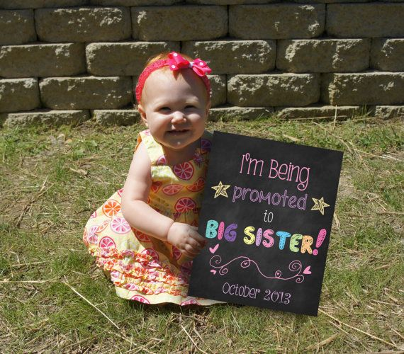 Printable Big Sister or Pregnancy by ChalkingItUpBoards on Etsy, $10.00