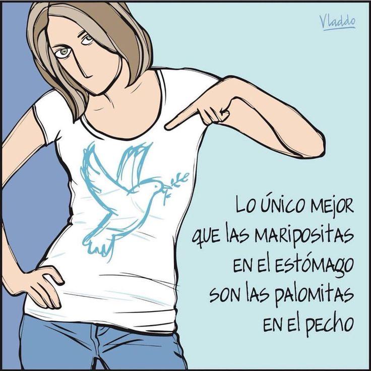 Lo único mejor q las maripositas en el estomago son las palomitas en el pecho. #PazenColombia #paz #pazSi