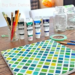 Easy and affordable art tutorial. DIY and Decorate your walls for less!