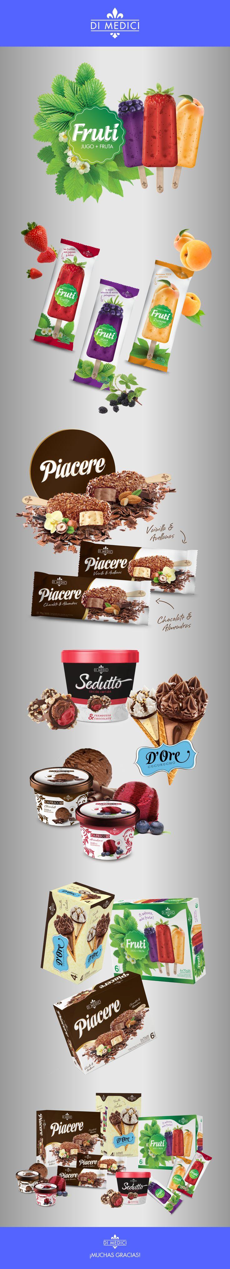DI MEDICI - Línea de helados on Behance