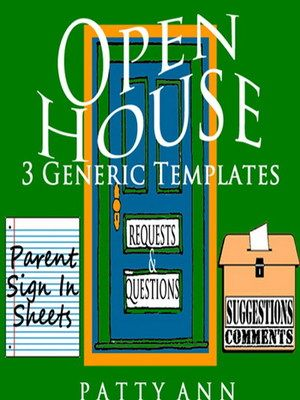 3 OPEN HOUSE TEMPLATES > Editable in Word to Customize to YOUR Classroom Needs! Includes: *Parent Sign-In Sheets *Suggestions & Comment Form *Requests & Questions Template.