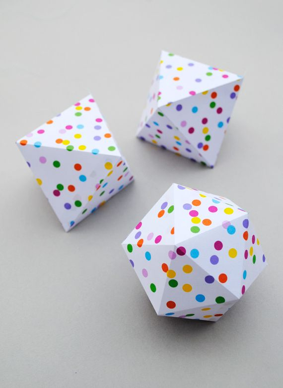 These teeny confetti-printed boxes.