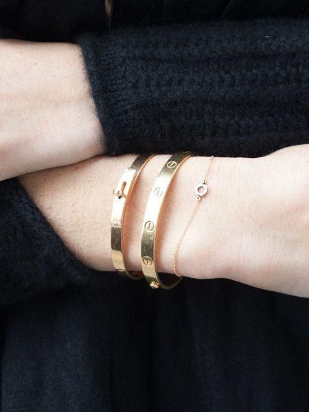 Gold Forever Love Bangle @JewelleryClub    A little love note in gold - and our tribute to Cartier's iconic Love Bracelet.  It's the perfect gift for the lady you love - and makes an elegant grown-up friendship bracelet.